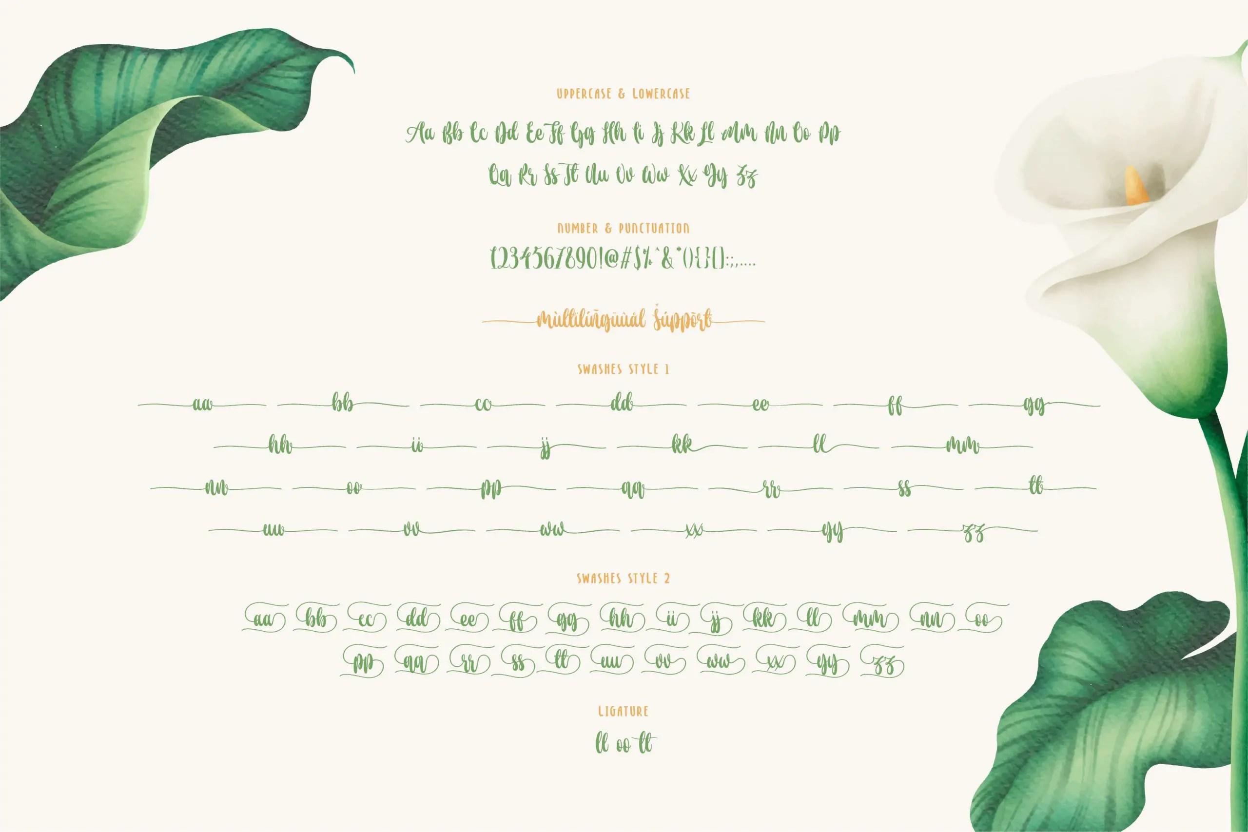 De Floras Script Calligraphy Font-3