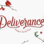 Deliverance Modern Script Handwritten Font