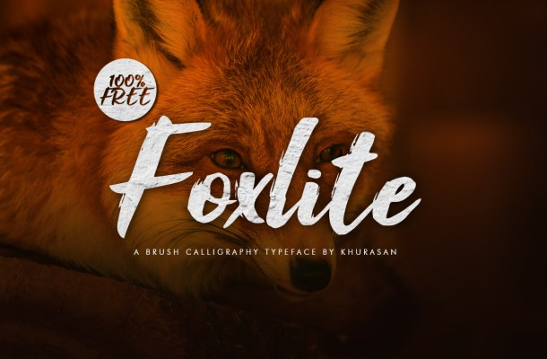 Foxlite Brush Calligraphy Font