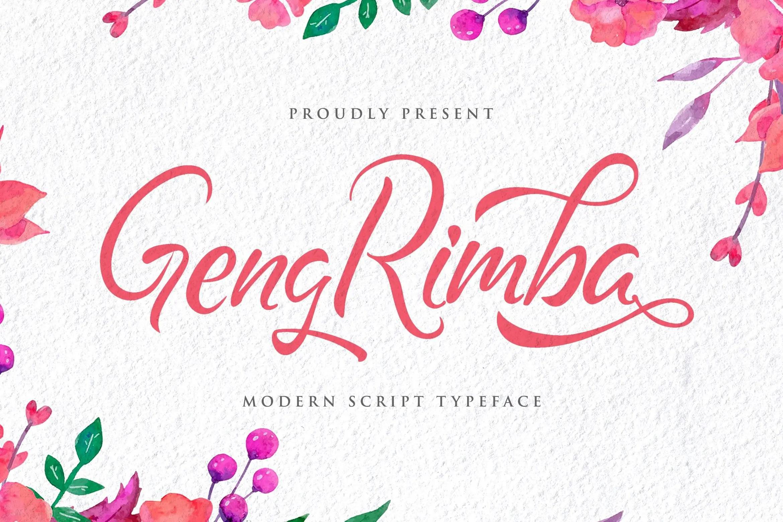 Geng Rimba Modern Script Calligraphy Font-1