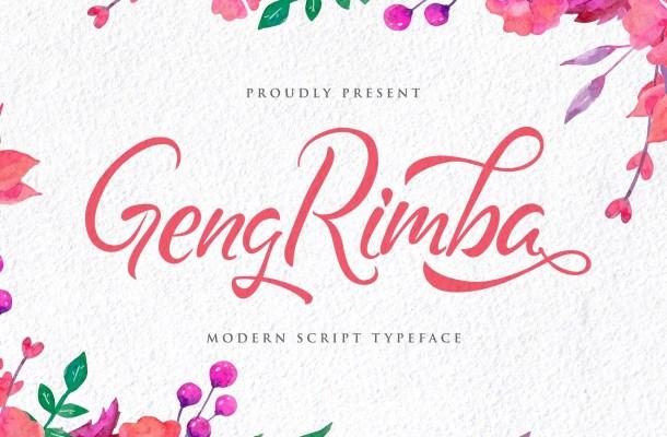 Geng Rimba Modern Script Calligraphy Font