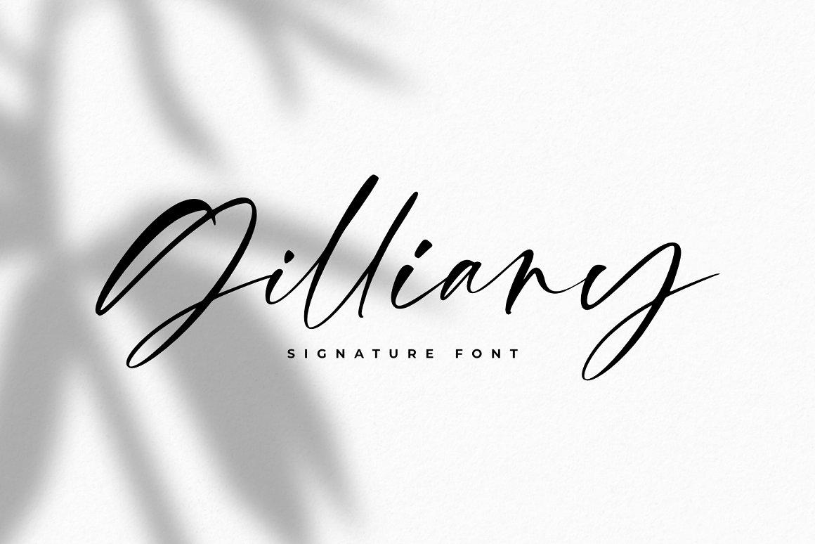 Gilliany Signature Script Font-1