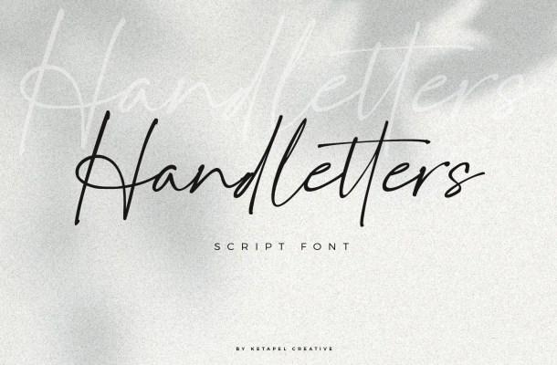 Handletters Handwritten Script Font