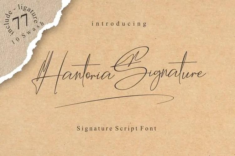 Hantoria Signature Handwritten Script Font-1