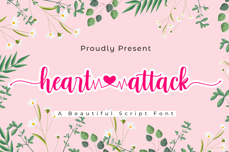 Heart Attack Calligraphy Script Font-1