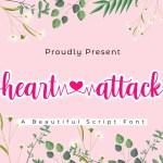 Heart Attack Calligraphy Script Font