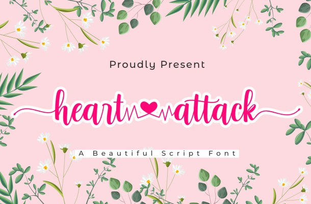 Heart Attack Calligraphy Script Font