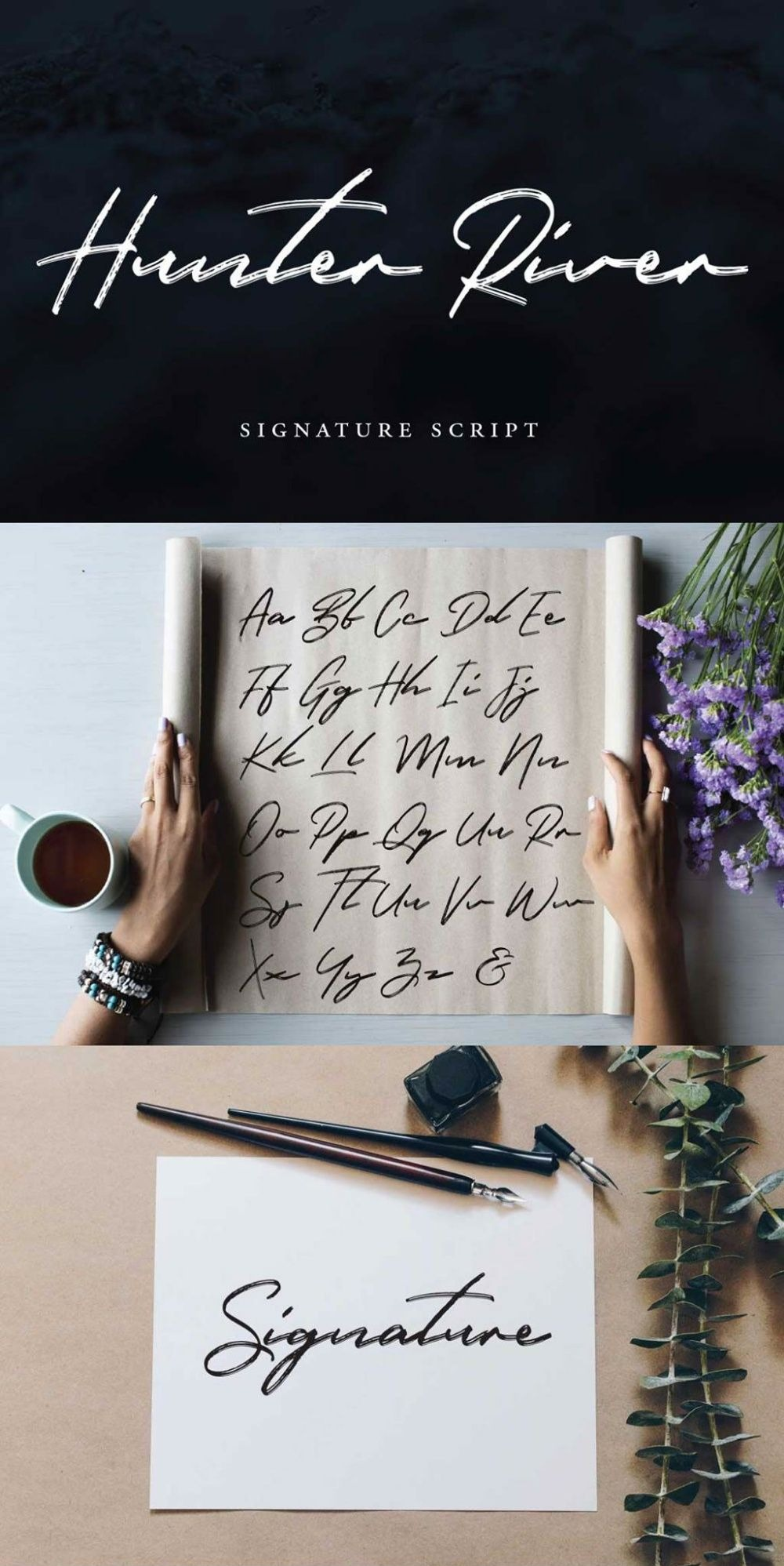 Hunter River Signature Brush Script Font-2