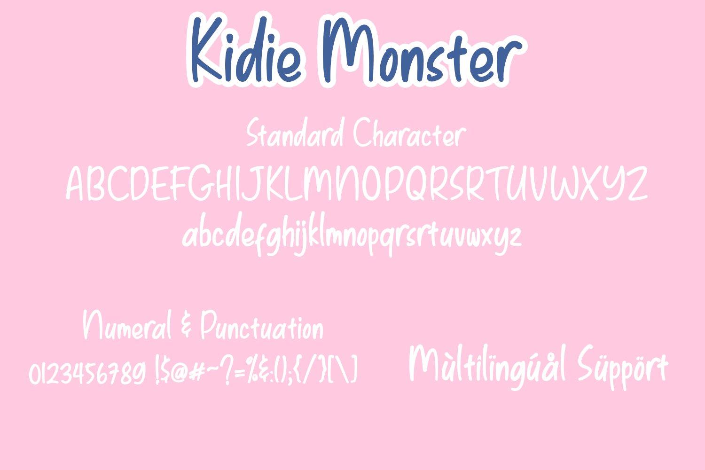 Kidie Monster Display Font-3