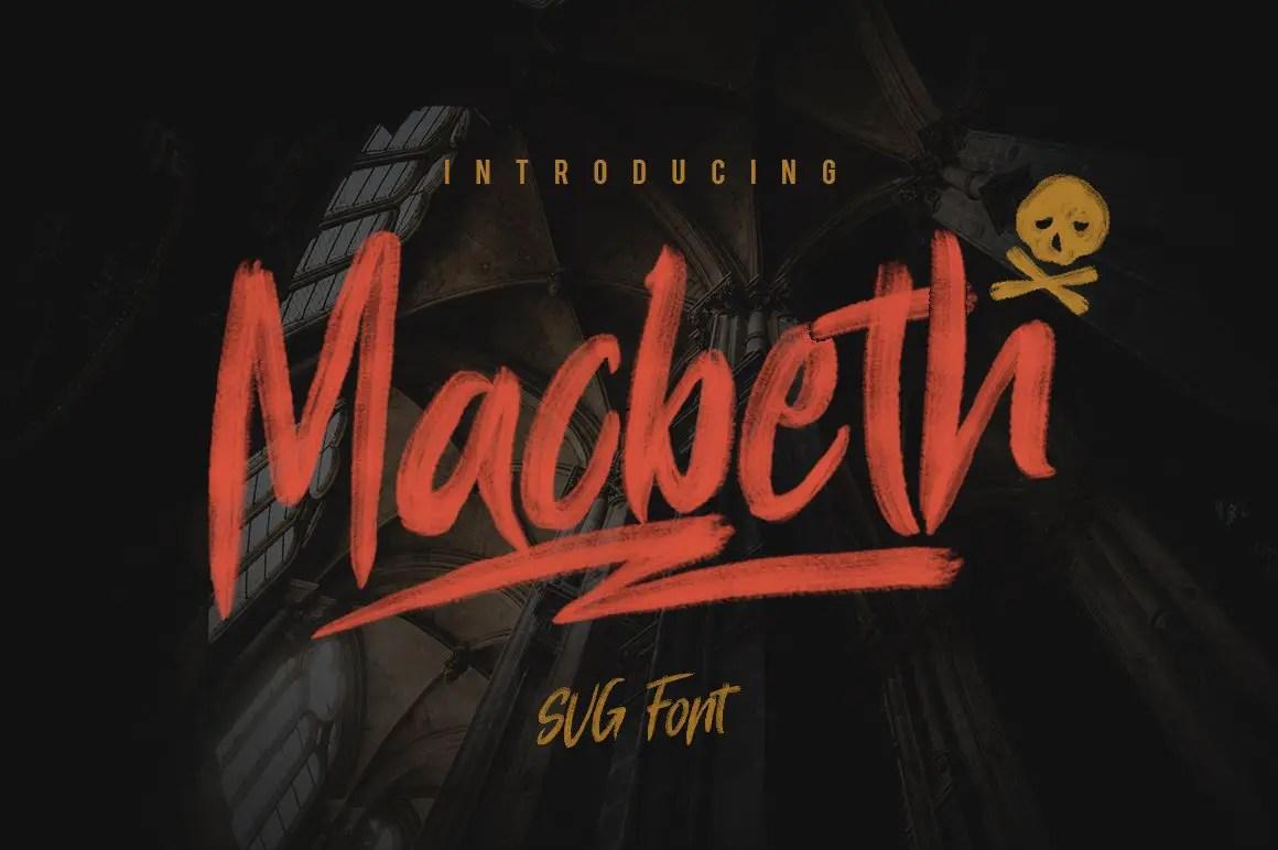 Macbeth OpenType SVG Script Brush Font-1