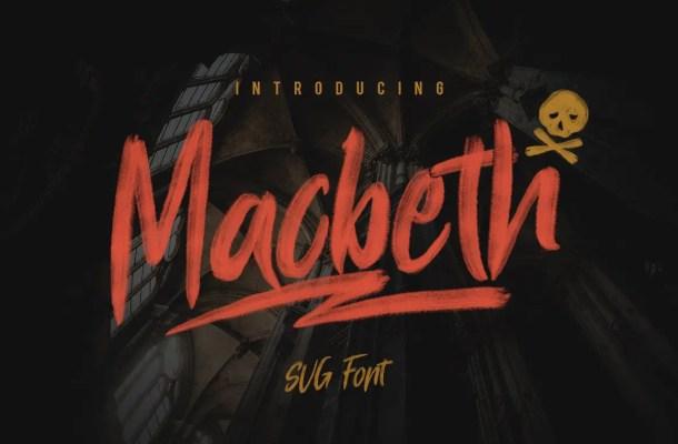 Macbeth OpenType SVG Script Brush Font