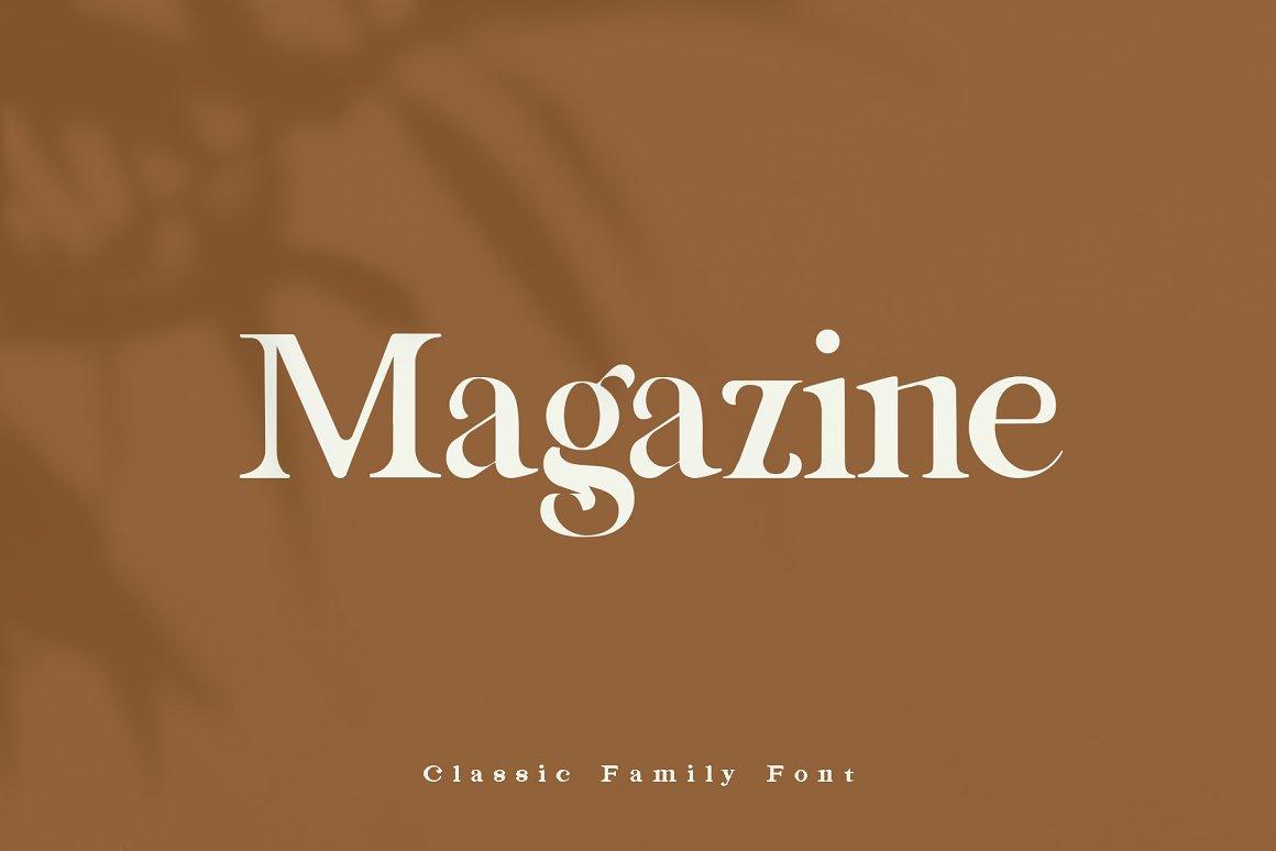 Magazine Serif Font-1