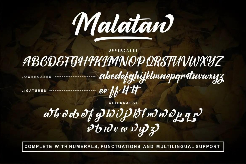 Malatan a Modern Script Typeface-3