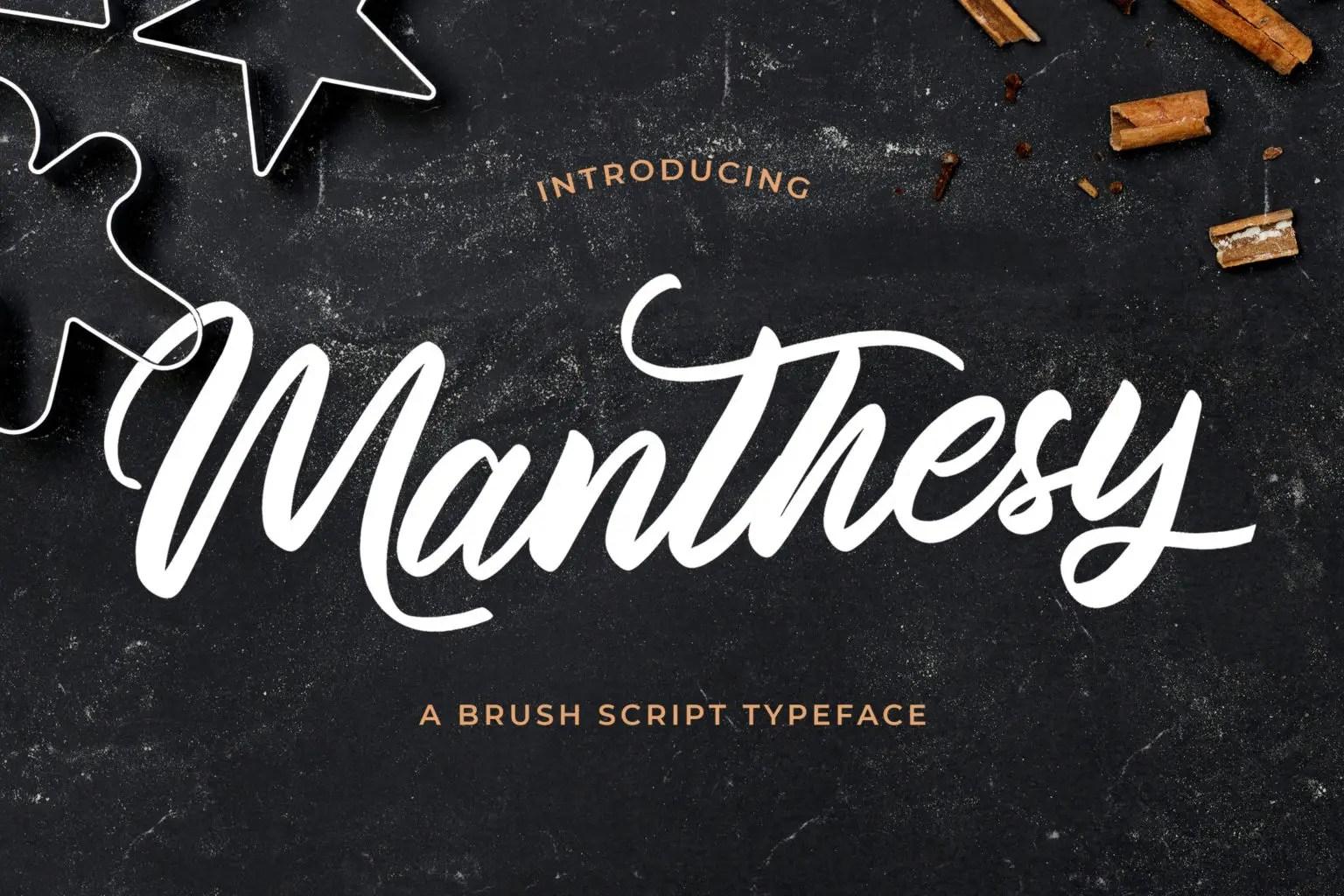 Manthesy Brush Script Font-1