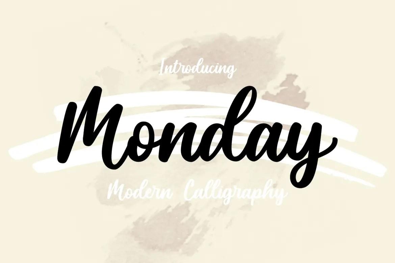 Monday Script Calligraphy Font-1