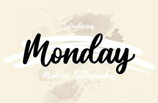 Monday Script Calligraphy Font