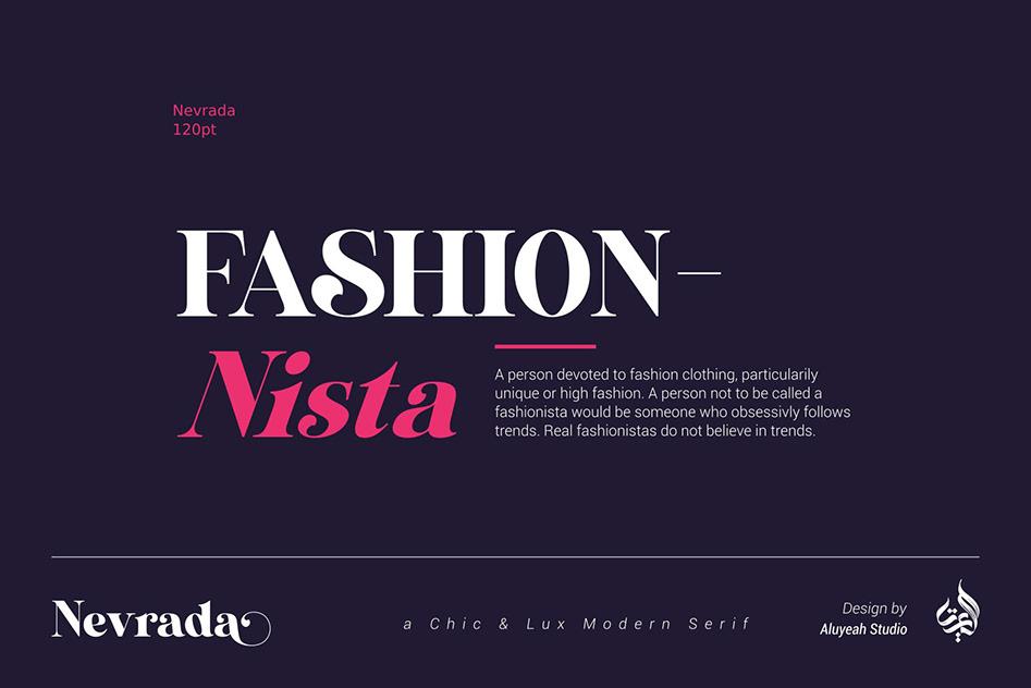 Nevrada Modern Chic Luxury Serif Font-2