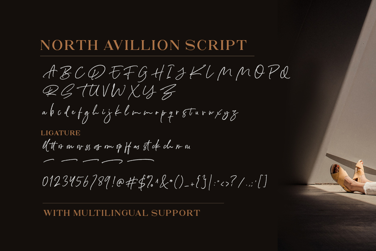 North Avellion Script Serif Duo Font-4