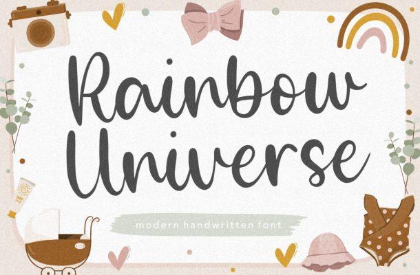 Rainbow Universe Modern Handwritten Font