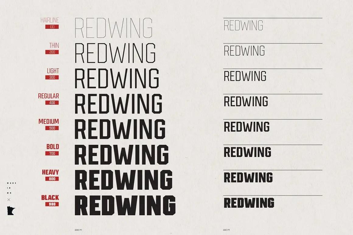 Redwing Sans Serif Typeface-2