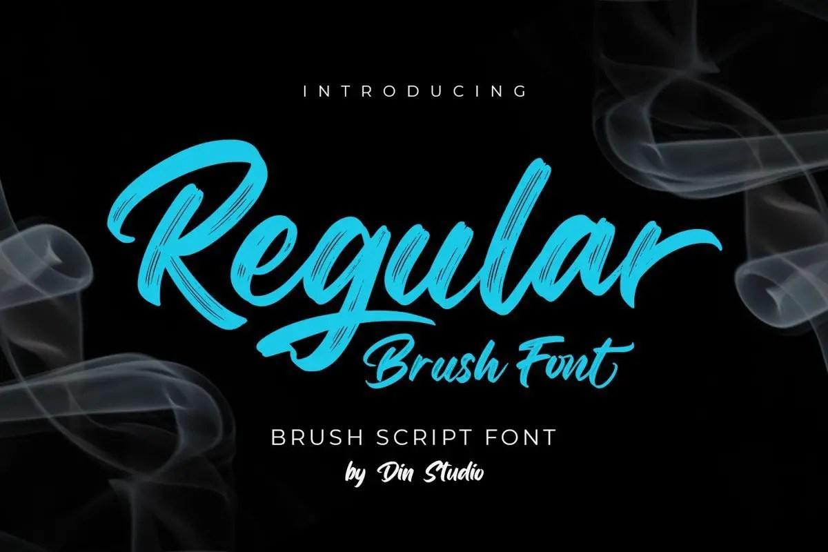 Regular-Brush-Script-Font