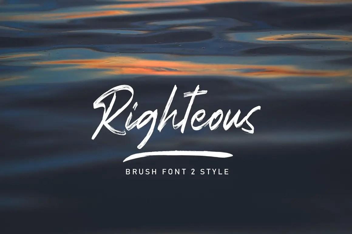 Righteous Handwritten Typeface Brush Font-1