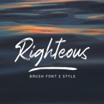 Righteous Handwritten Typeface Brush Font