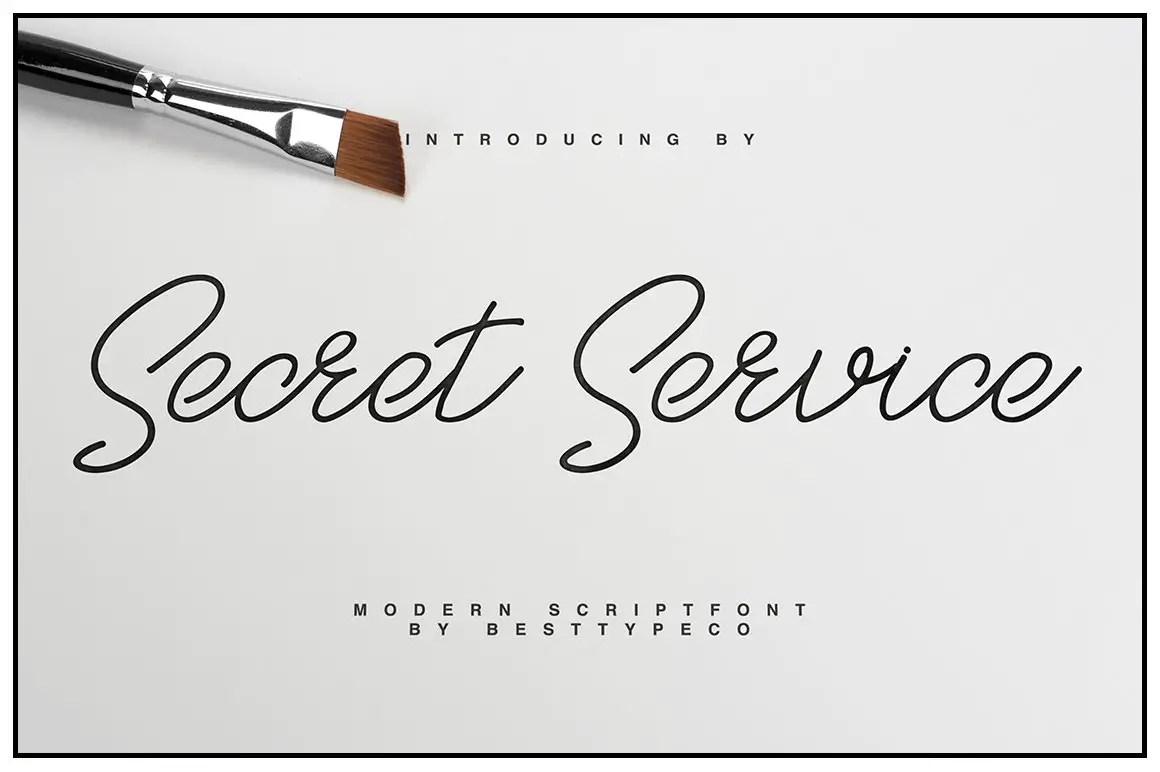 SecretService Script Font-1