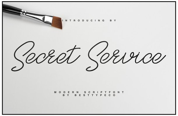 SecretService Script Font