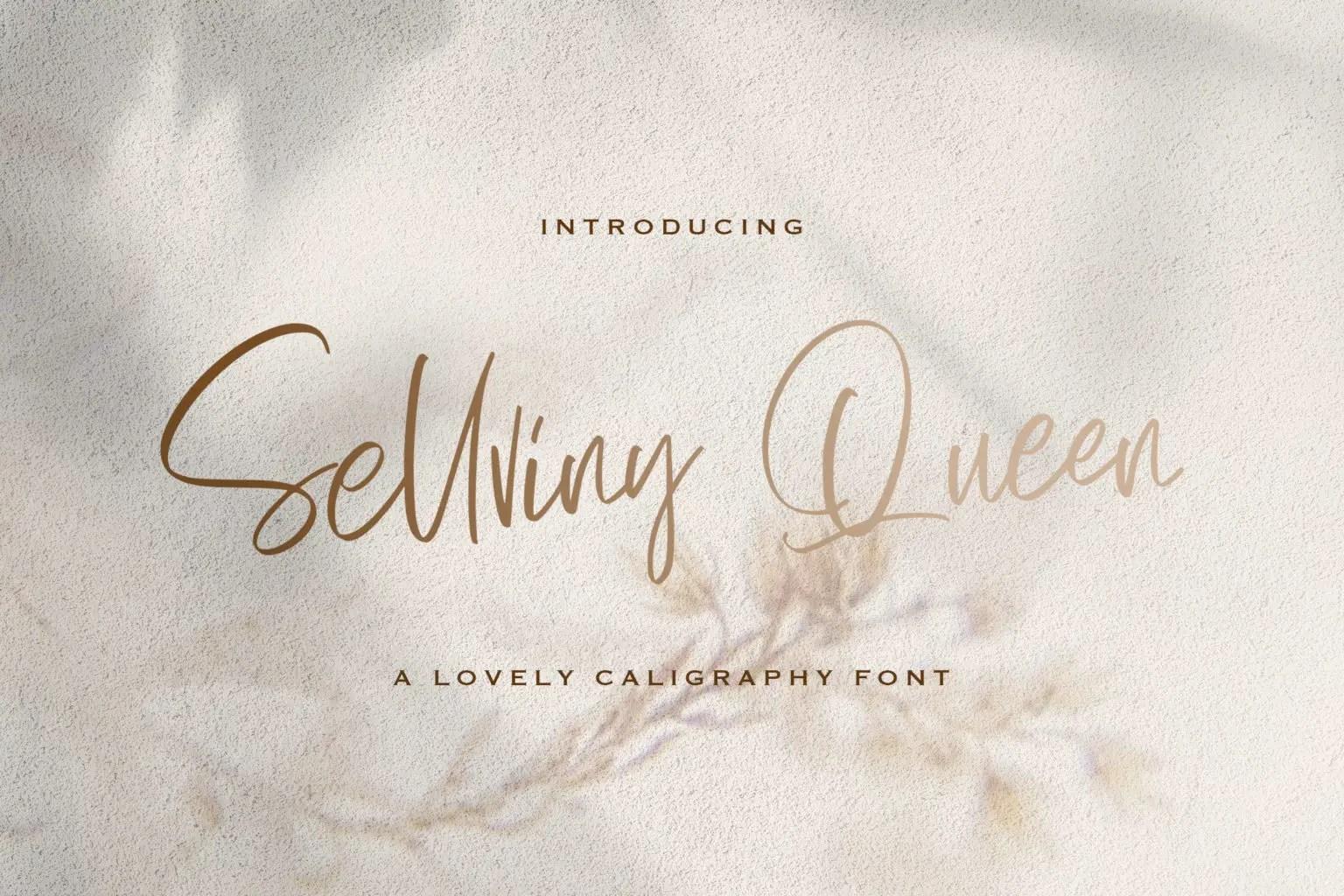 Sellviny Queen Script Handwritten Font-
