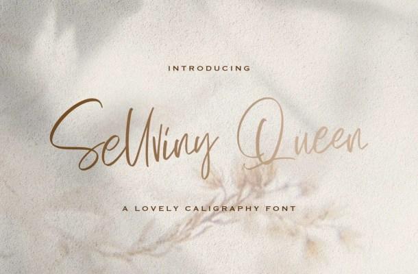 Sellviny Queen Script Handwritten Font