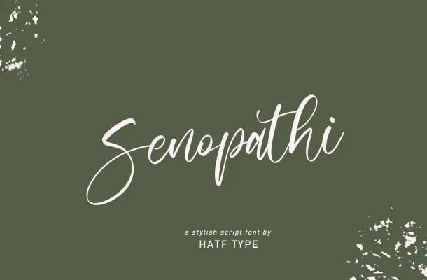 Senopathi Stylish Script Font