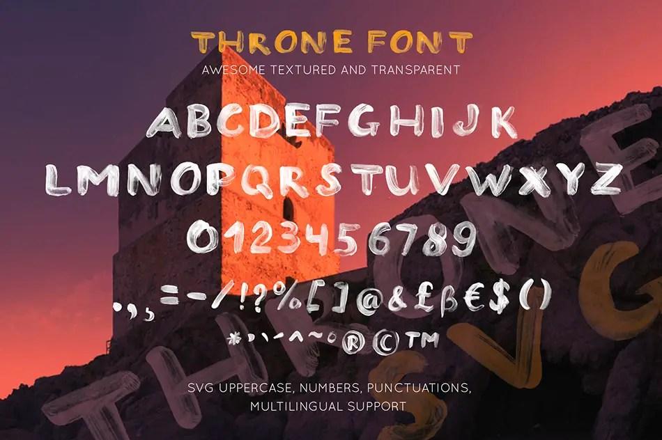 THRONE Script Brush Font-3
