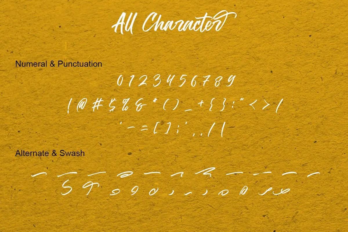 The Hamburg Script Calligraphy Font-4