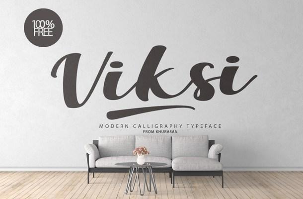 Viksi Script Calligraphy Font