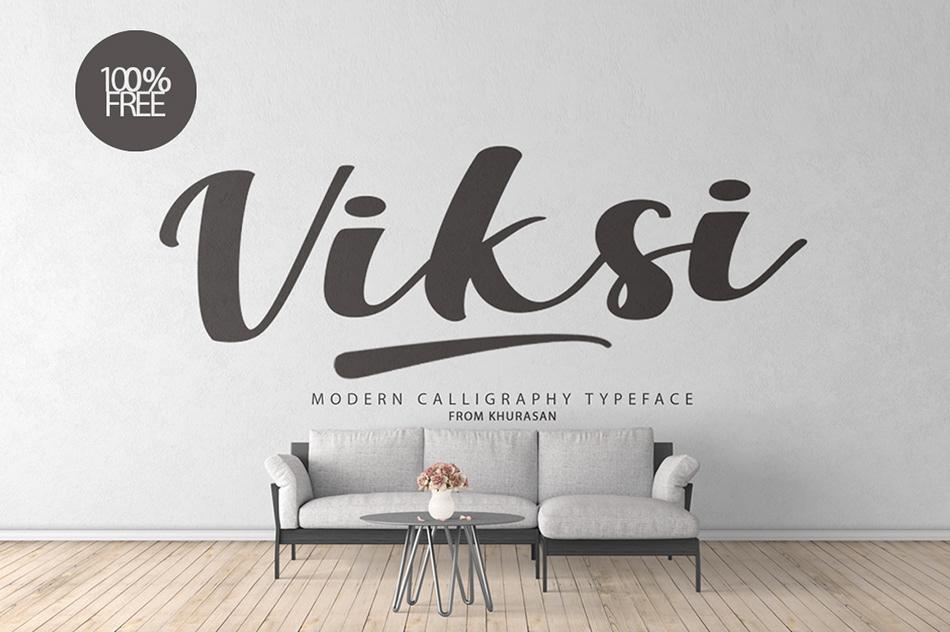 Viksi Script Calligraphy Font-1