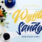 Wynter Sandy Bold Script Font