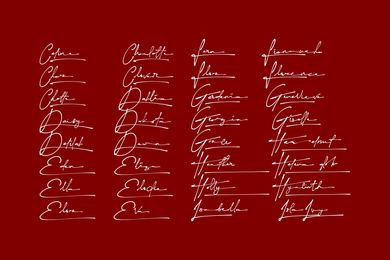 Yonitta Script Handwritten Font-3