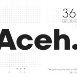 Aceh Geometric Sans Serif Font