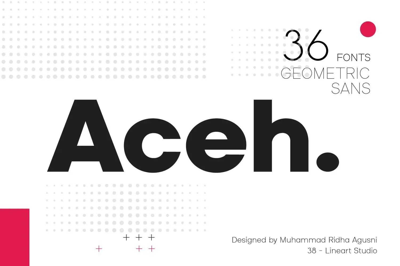 Aceh Geometric Sans Serif Font-1