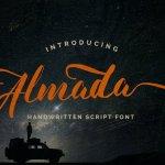Almada Script Calligraphy Font