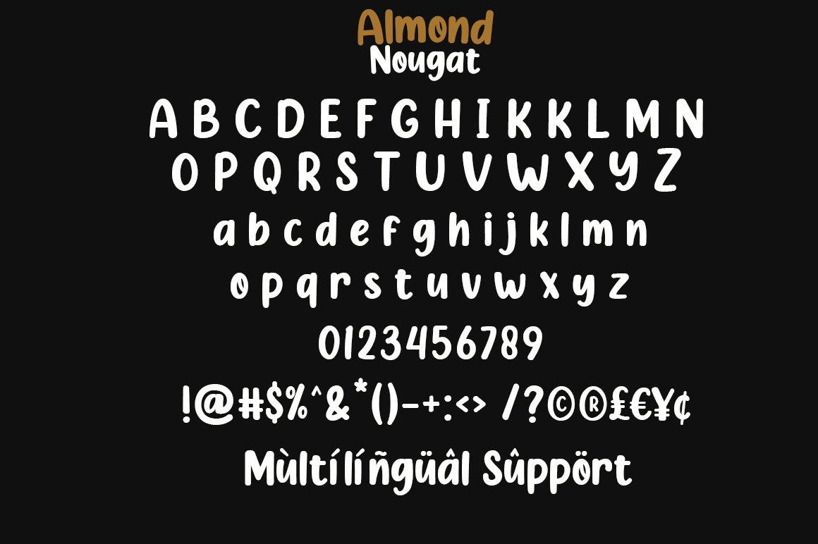 Almond Nougat Fancy Font-3