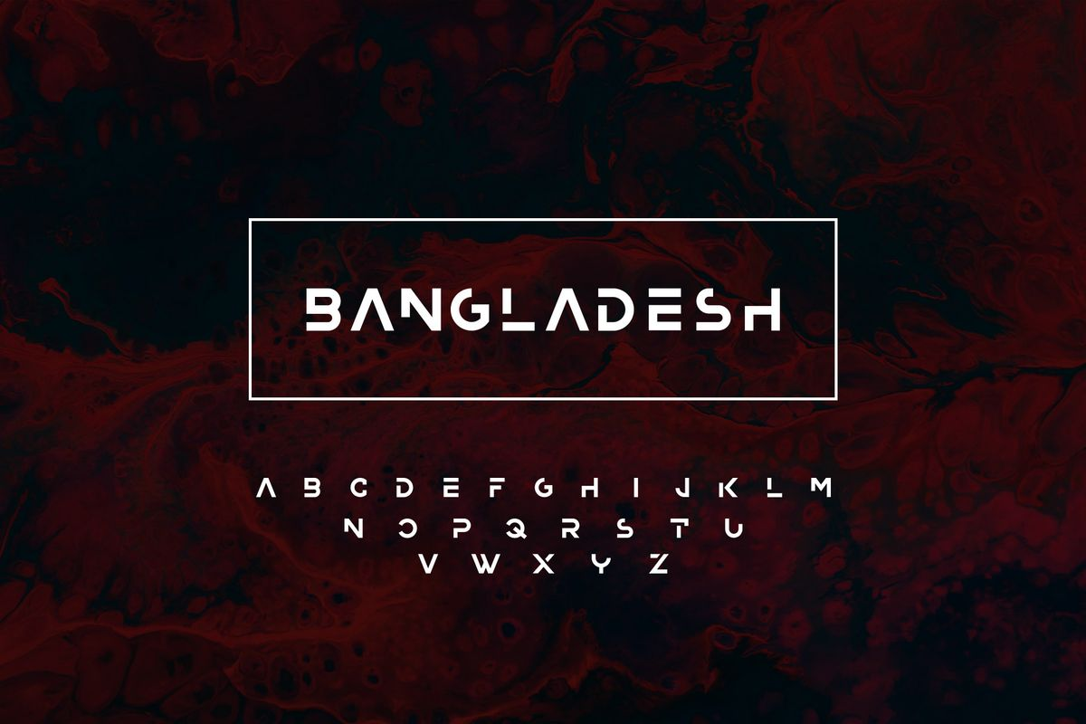 Bangladesh Display Font-1