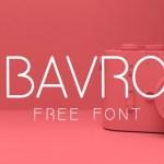 Bavro Sans Serif Font
