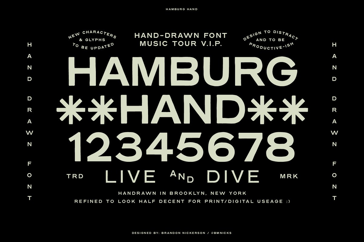 Hamburg Hand Display Font Family-1