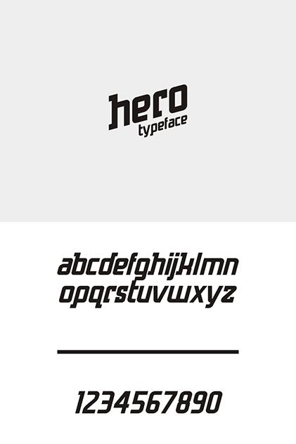 Hero Sans Serif Typeface-1