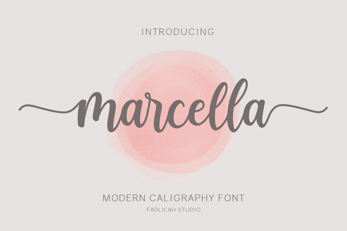 Marcella Calligraphy Script Font-1