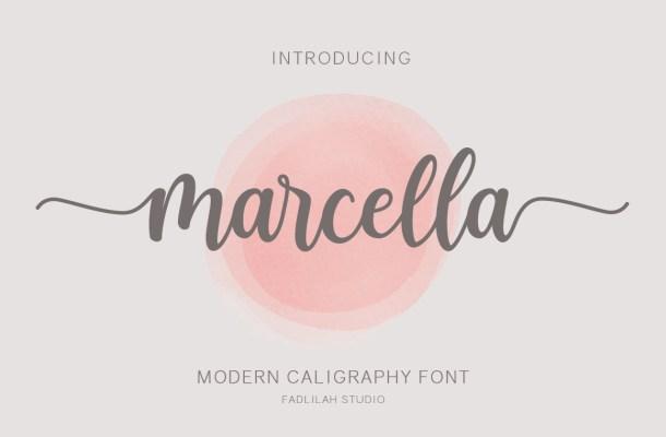 Marcella Calligraphy Script Font