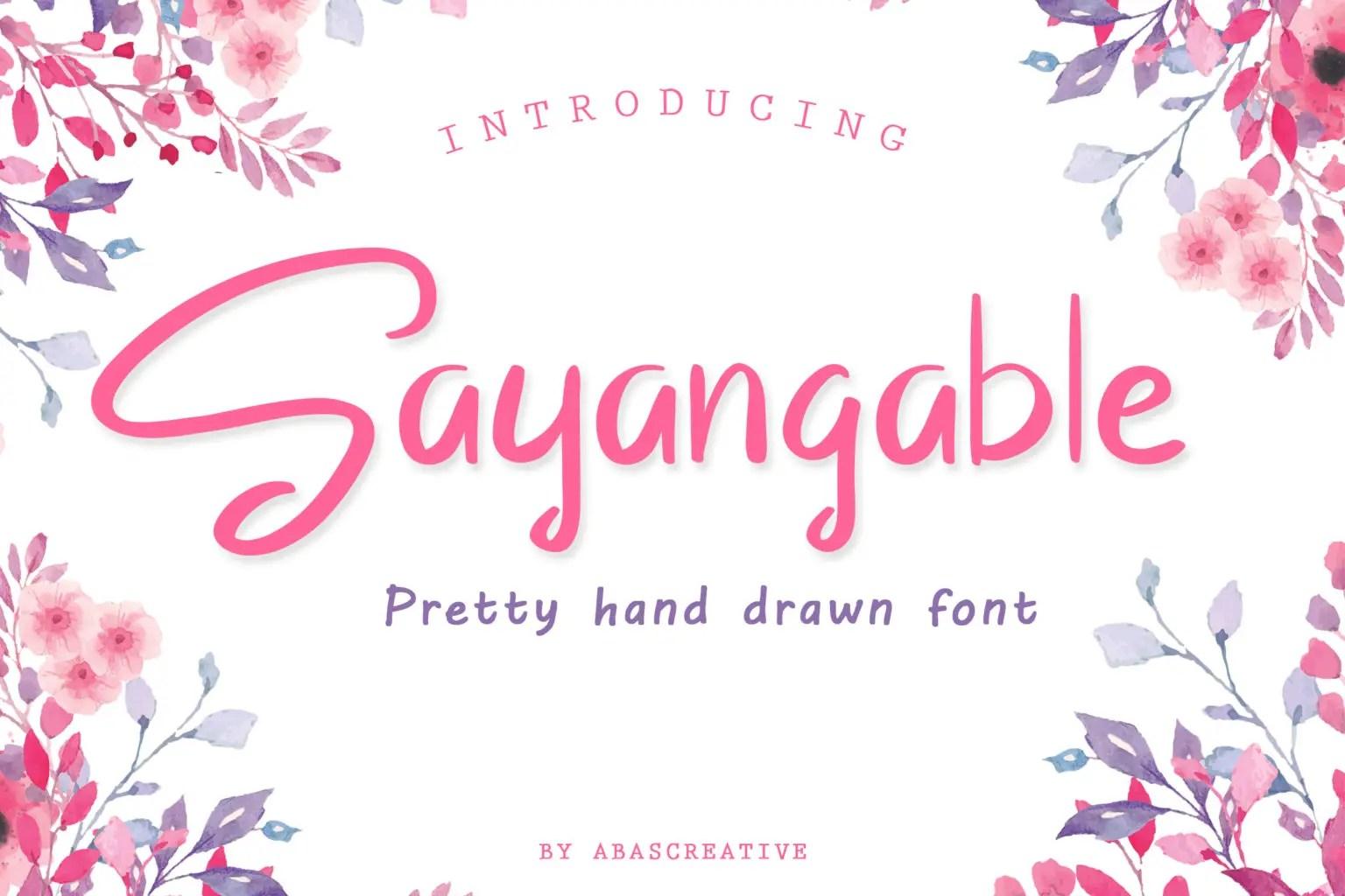 Sayangable Hand drawn Font-1