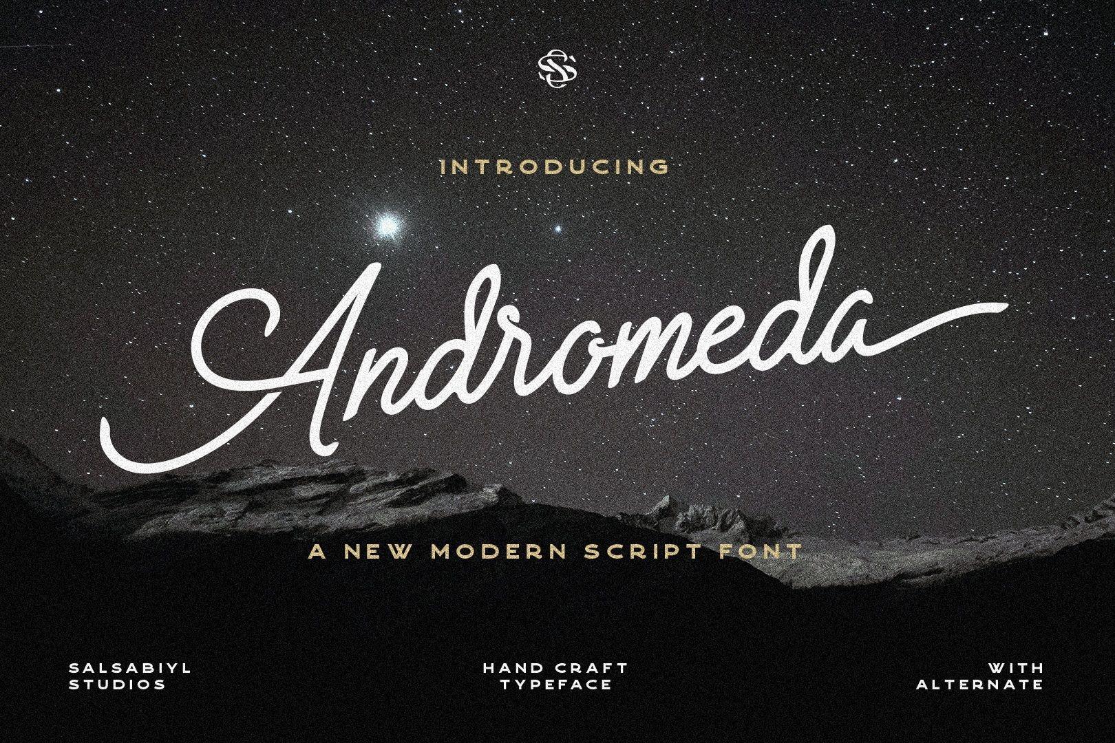 Andromeda Modern Script Font-1 (1)